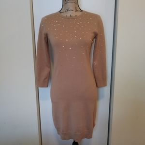 Michael Michael Kors Nude Bodycon Sweater Dress XS